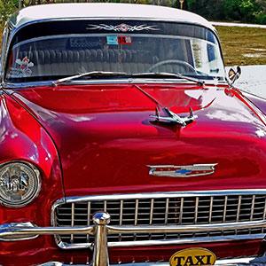 Havana in Old American Classic Car