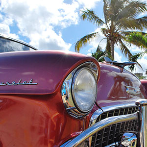 Varadero in Old American Classic Car